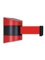 Dviejų spalvų sieninis atitvaras 897 su raudona juosta